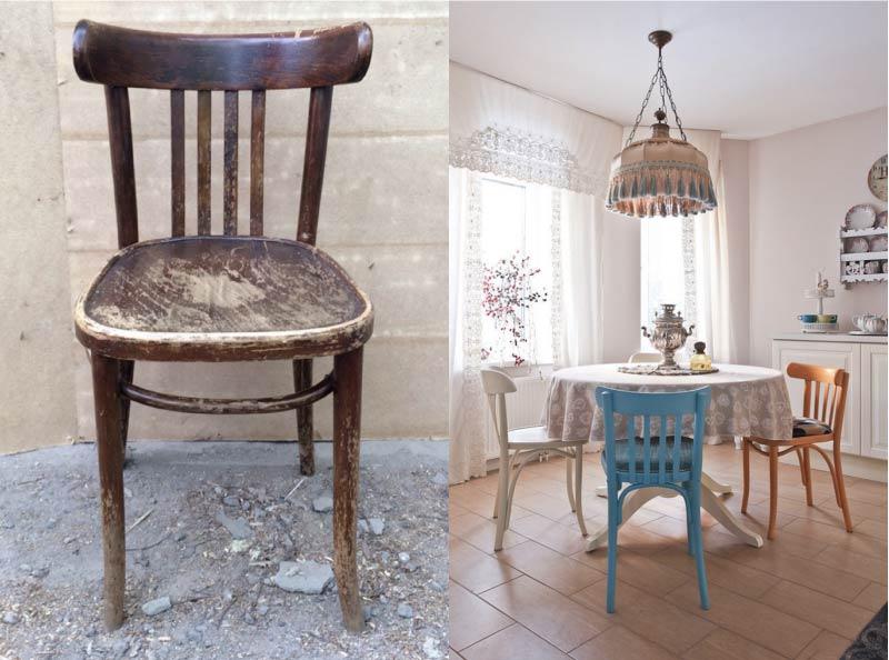 Самый простой способ декорирования старого ненужного стула - это покраска