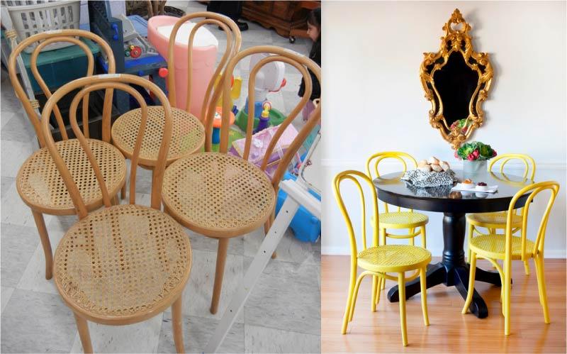 """Преображение венского деревянного стула - фото """"до"""" и """"после"""""""