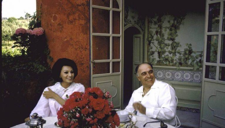 Софи Лорен вместе со своим мужем Карло Понти