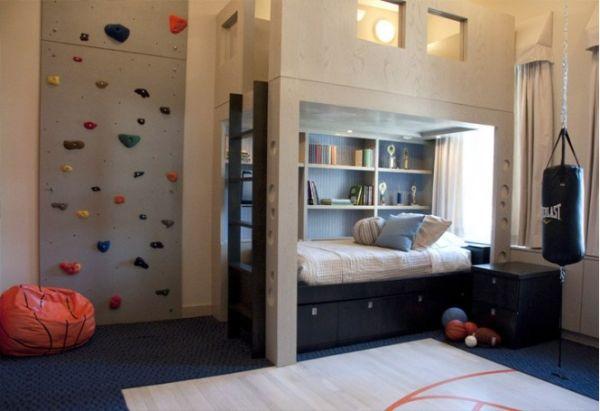 Мини-уголок спорта - необходимая вещь в подростковой спальне