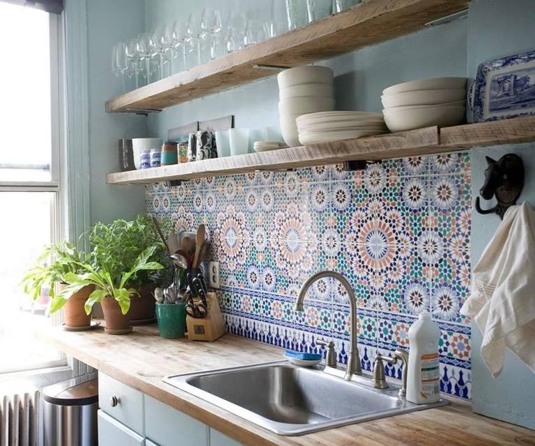 Прекрасный дизайн кухонного фартука