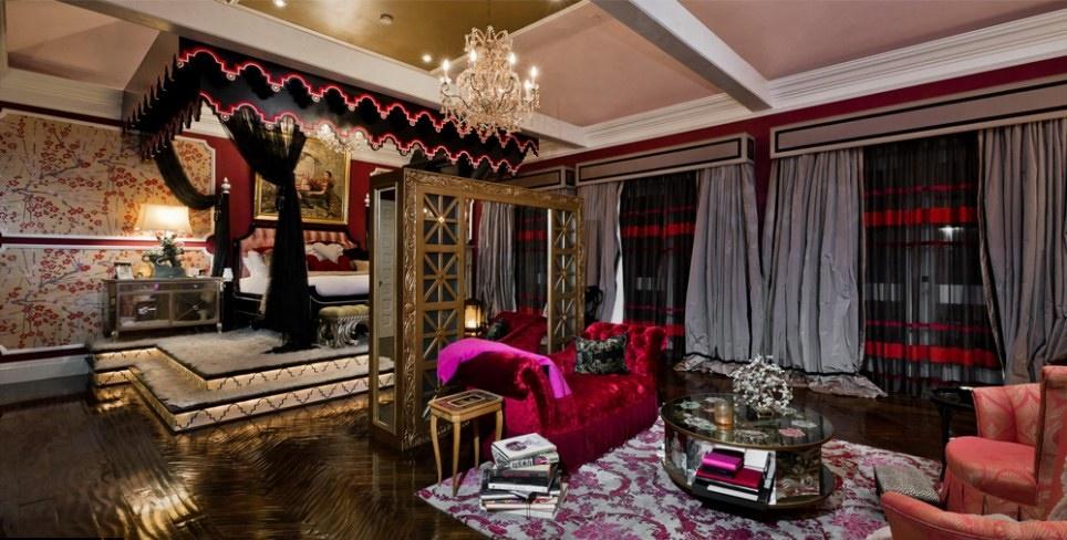 Интерьер спальни Кристины Агилеры