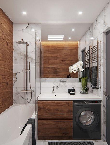 Изумительный дизайн ванной комнаты