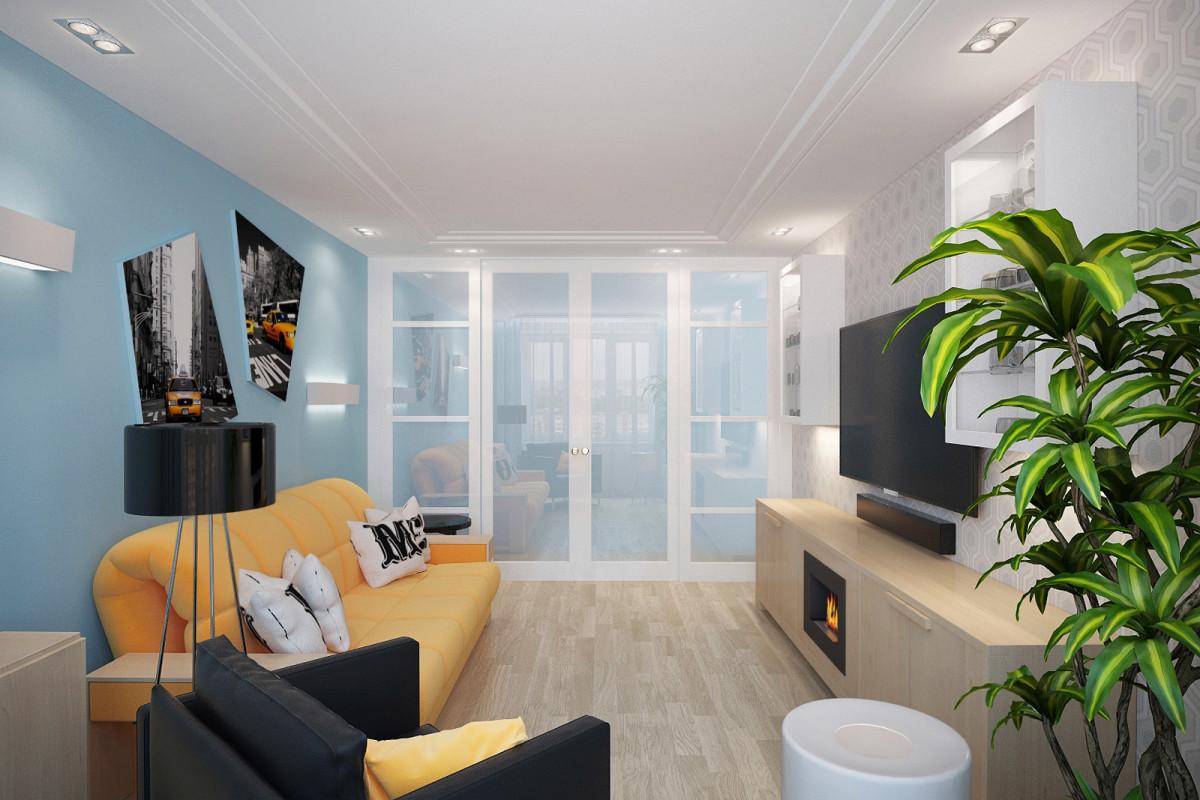 Интерьер гостиной комнаты и её цветовая палитра