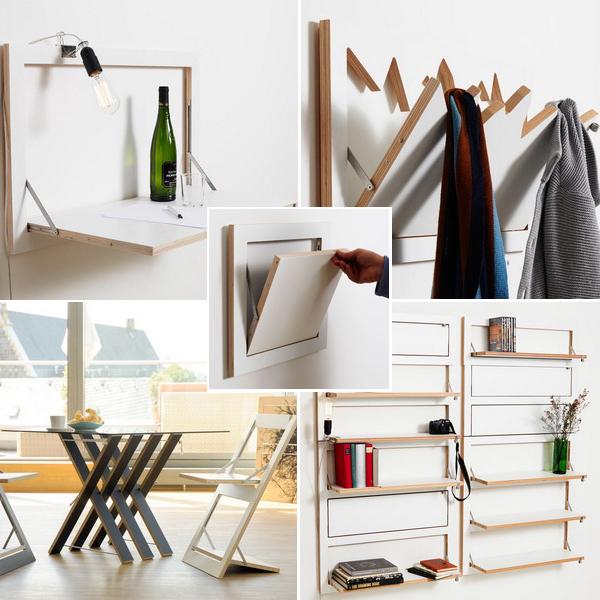 Складные вещи в интерьере квартиры