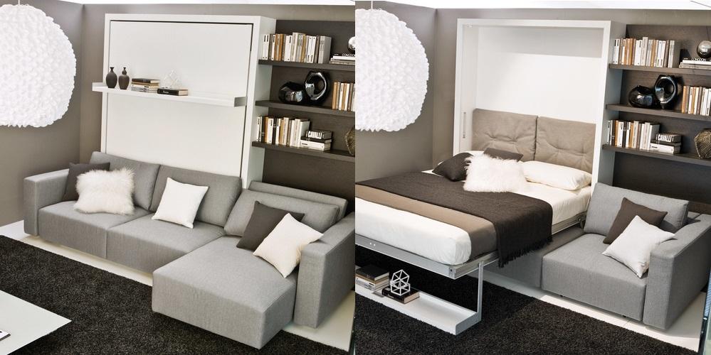 Диван-кровать в интерьере маленькой квартиры