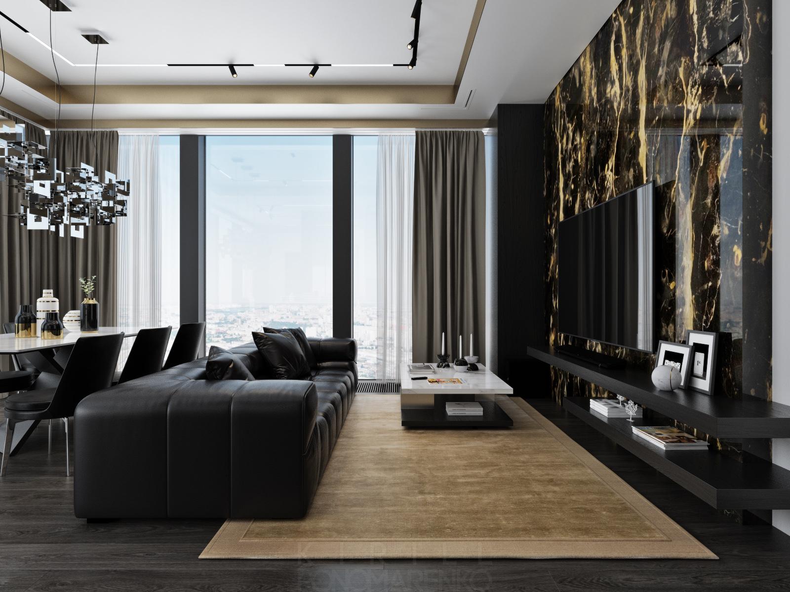 Шикарный интерьер апартаментов в Москва-Сити