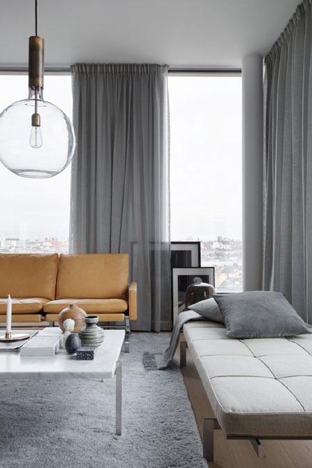 Натуральный домашний текстиль в интерьере квартиры