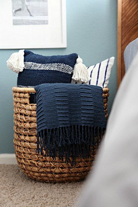Необычное хранение домашнего текстиля