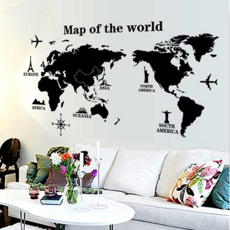 """Виниловая наклейка """"Карта мира"""""""