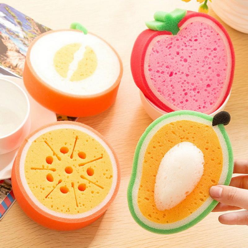Поролоновые губки для мытья посуды в виде фруктов - отличная альтернатива