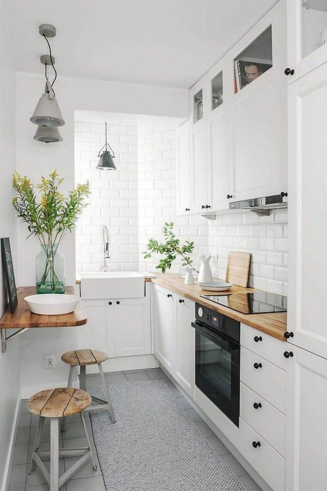 Потрясающий дизайн маленькой кухни