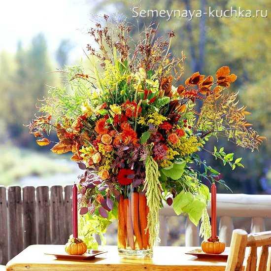 Осенний букет из диких растений
