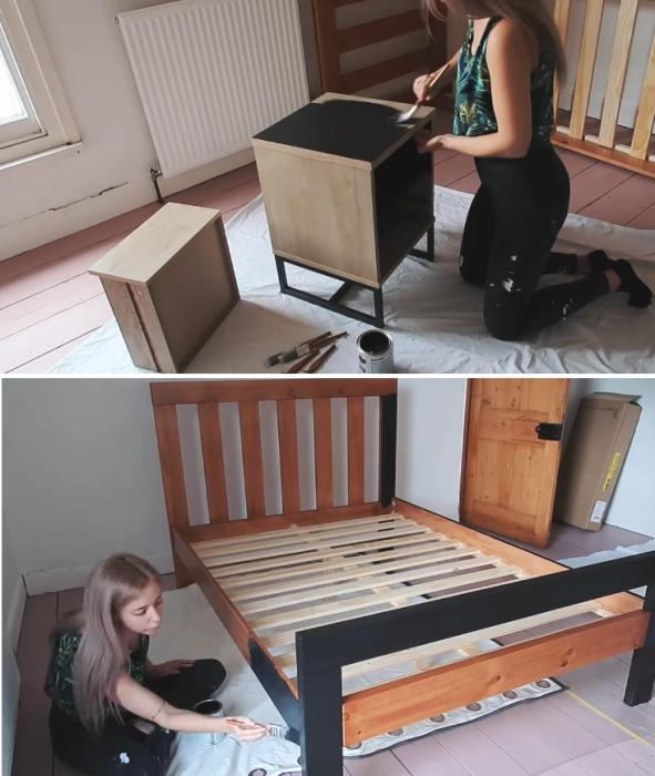 Покраска и установка мебели