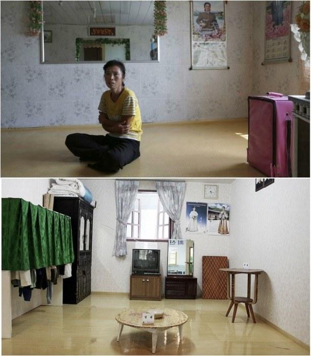 Обычный интерьер квартиры в Северной Корее