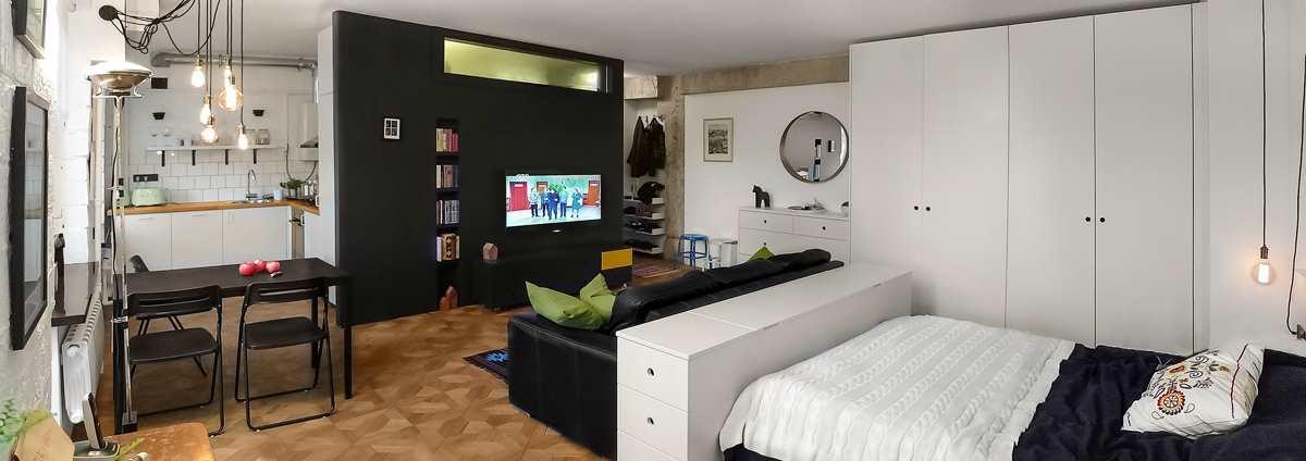 Интерьер преображенной квартиры-студии