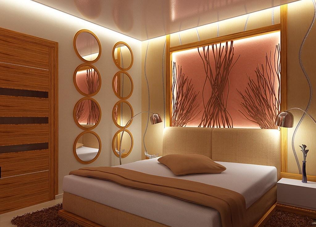 Скрытая подсветка в спальне