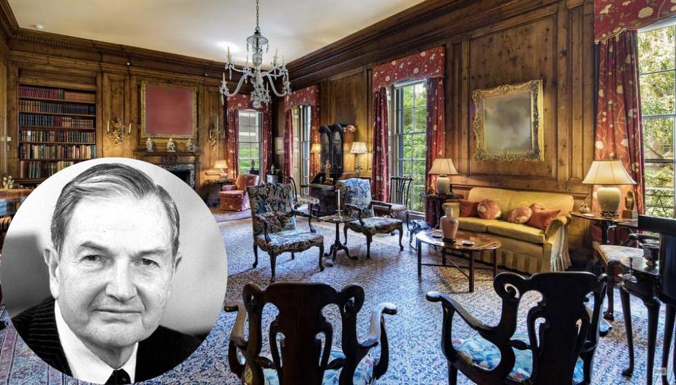 Гостиная в особняке Дэвида Рокфеллера