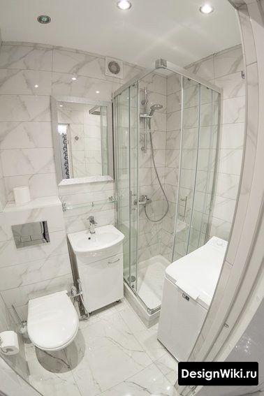 Самый лучший вариант для малогабаритной ванны - это душ