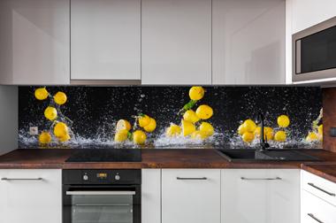 Большой фотопринт на кухонном фартуке