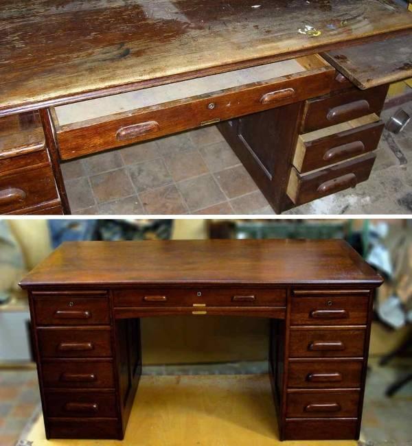 Старую советскую мебель очень легко реставрировать благодаря простым формам
