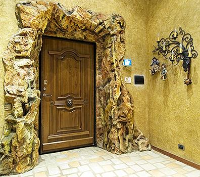Фото металлической двери с накладкой из МДФ