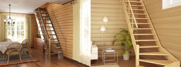 Фото типовых маршевых лестниц, отлично подходящих для небольших частных домов