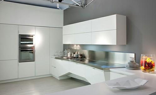 Футуристический интерьер кухни