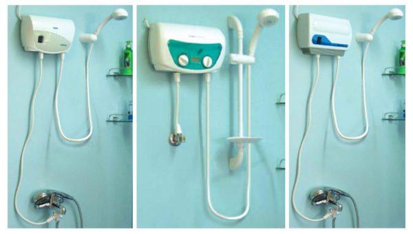 Габариты проточного нагревателя невелики, что позволяет установить его на стене ванной или кухни.