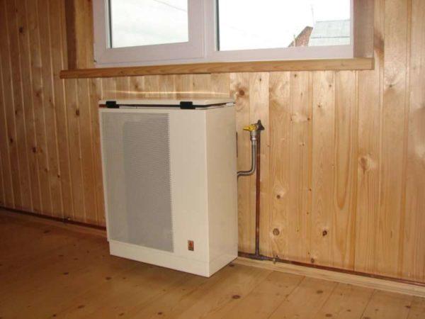 Газовый конвектор требует разводки газа по всему дому.
