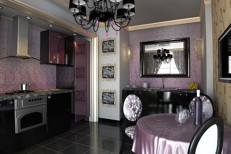 Гостиная кухня столовая дизайн