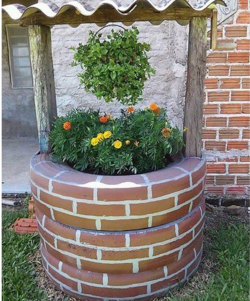 Готовую цветочницу нужно покрасить и засадить цветами