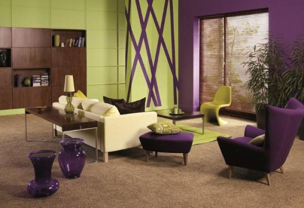 Хотите своими руками создать яркий интерьер? Выбирайте комплиментарные цвета.