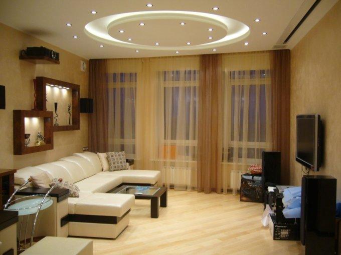 Интерьер гостиной 19 кв м