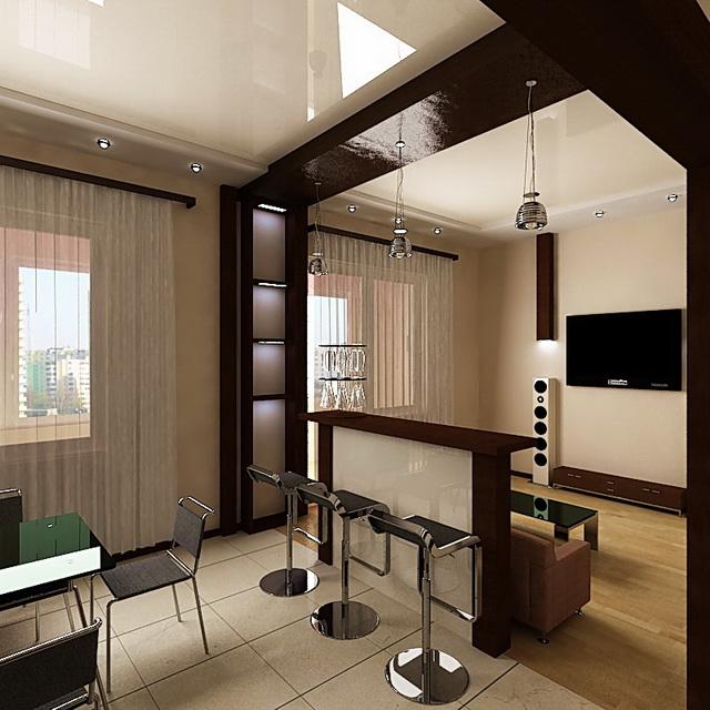 Красивый дизайн кухни в хрущевке: Дизайн гостиной в хрущевке: интерьер в панельном доме