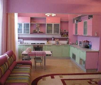 Интерьерв розовой гамме
