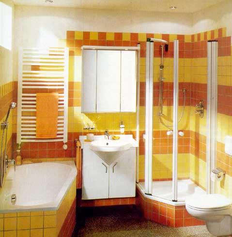 интерьер стандартной ванной комнаты