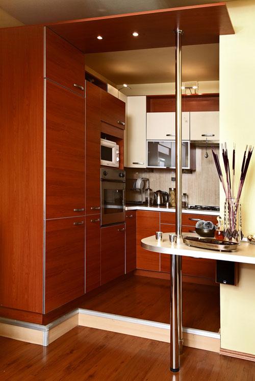 интерьер уютной кухни