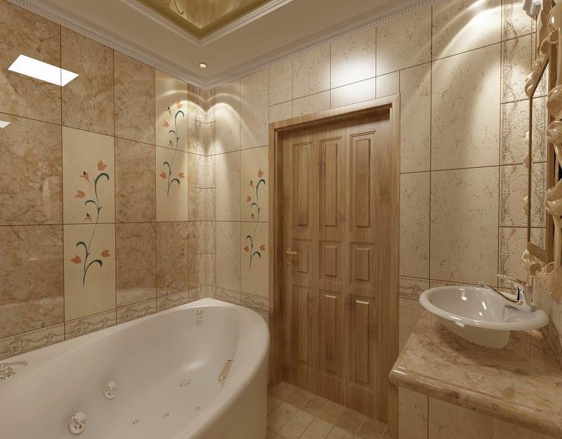 интерьер ванной плитка
