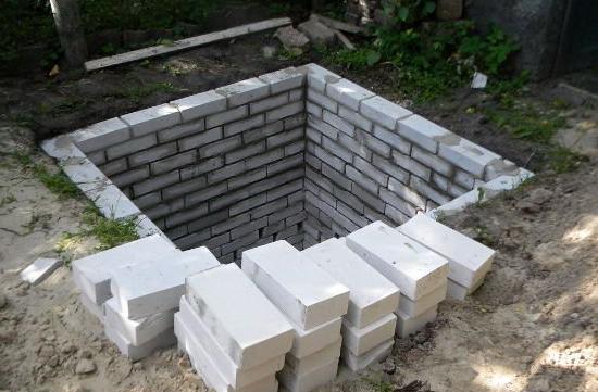 Из кирпича проще делать квадратную яму