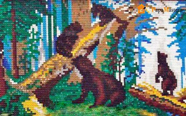 Из пластмассовых пробок можно воссоздавать даже знаменитые картины