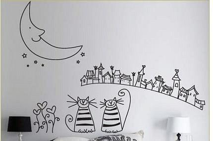 Оформление стеныстикерамив детской комнате