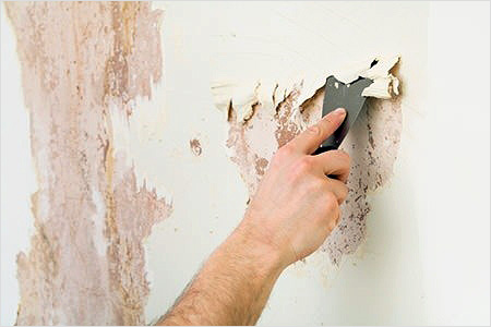 Снятие полос масляного покрытия