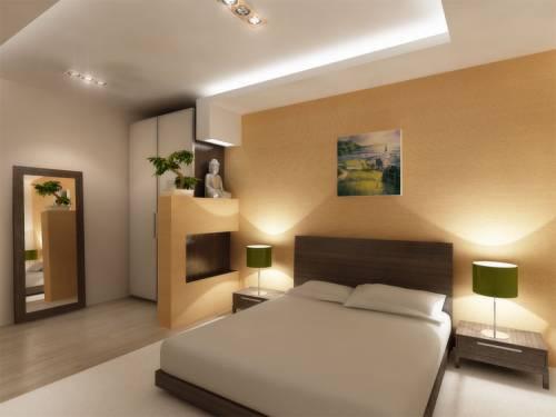 Спальня с флизелиновой отделкой