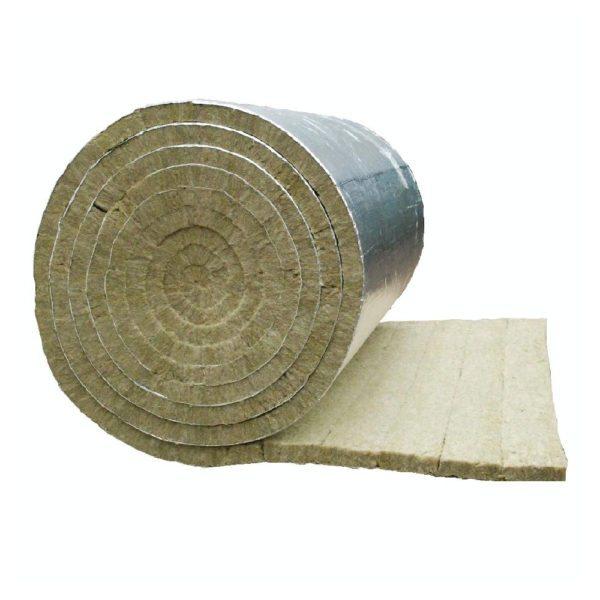 Каменная вата с фольгой не только препятствует теплообмену, но ещё и возвращает тепловые лучи обратно в помещение