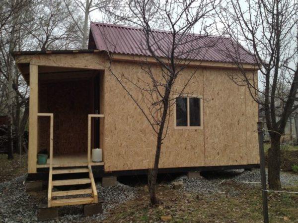 Каркасный домик размером 3х4 метра.