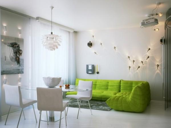 Классический дизайн небольшой квартиры-студии