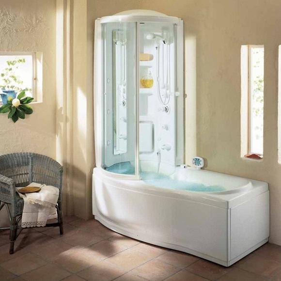 Комбинированная ванна с душевой кабиной