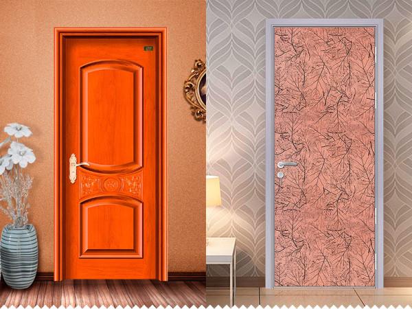 Конструкции полотен: слева - филёнчатое, справа - щитовое