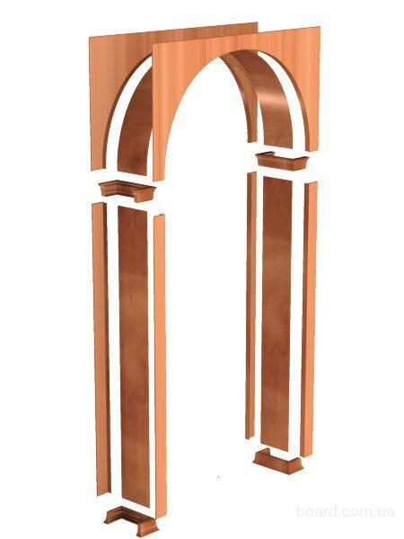 Конструкция арки с заполнением углов